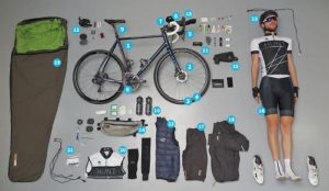 What equipment does it take to ride in the Transcontinental Bike Race