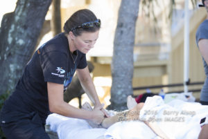Post race massage. Photo courtesy of Barry Alsop of Eyes Wide Open Images