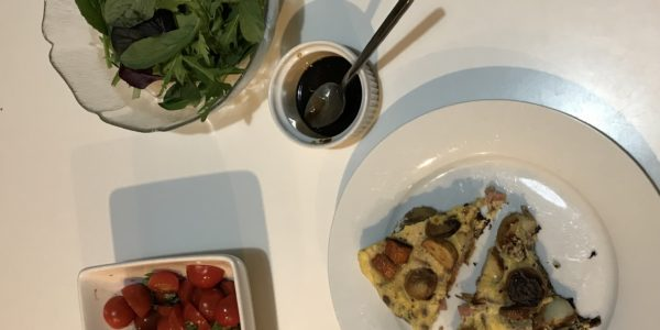 Ham Tortilla with Tomato Salad